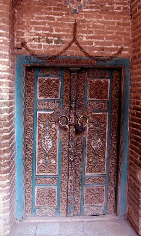 درب ورودی مسجد جامع ابیانه