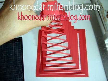 کاردستی آبشار کاغذی