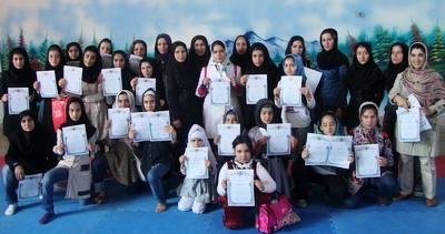 بانوان مدال آور کاراته استان اردبیل