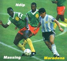 بازی ارژانتین و کامرون افتتاحیه 1990 ایتالیا