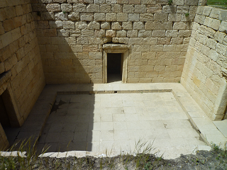 پرستشگاه آناهیتا از بالای پلکان