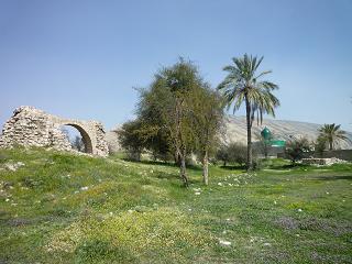 آتشکده بیشاپور و امامزاده ای در نزدیکی آن