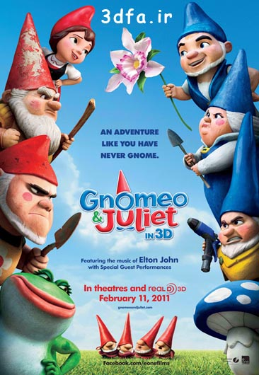 Gnomeo and Juliet 3D 2011_BluRay_720p Half Side By Side | www.3dfa.ir