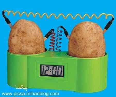 آزمایش تولید برق از سیب زمینی چیست ؟