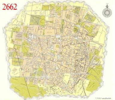 نقشه تاریخی تهران