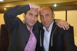 حسن ریوندی و خواننده خوب کشورمان امیر تاجیک