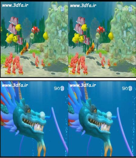 Under the sea mission 3d , sky 3d , ماموریت زیر آب