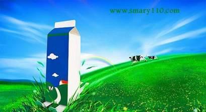 طرح لایه باز با موضوع طبیعت و شیر