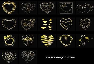 پی اس دی های عاشقانه قلب های طلایی