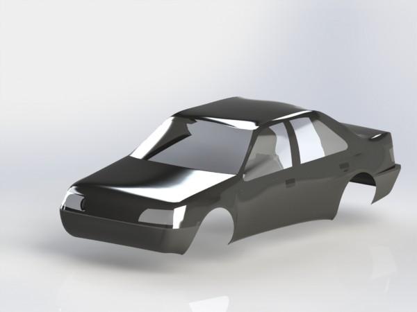 طراحی بدنه خودرو پژو 405