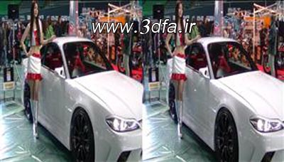 car show 3d Full SBS Girls,کلیپ سه بعدی از دختر ها