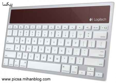 صفحه کلید بی سیم خورشیدی برای مک، آی فون و آی پد   Logitech K760