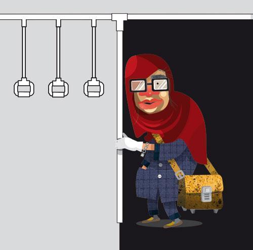 تیپهای مختلف بانوان در متروی تهران + تصاویر خنده دار