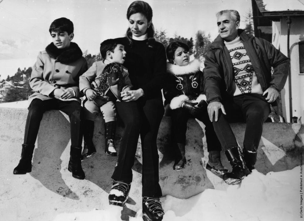 محمدرضا شاه و خانواده اش