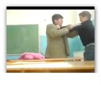 فیلمی از دعوای معلم و شاگرد / معلم عصبانی