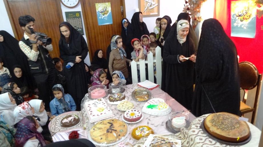 ع کیک برا پایان خدمت موسسه فرهنگی قرآن و عترت نیایش بیرجند