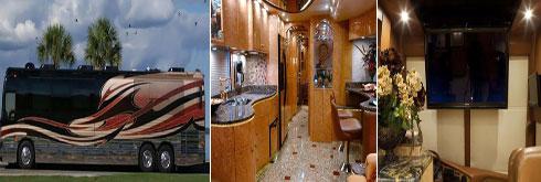 تصاویری از یک اتوبوس که تبدیل به یک خونه مجهز شده