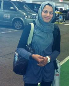 تهمینه کوهستانی نماینده دو و میدانی تنها زن حاضر در کاروان المپیک افغانستان