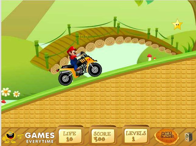 بازی آنلاین موتور سواری سوپر ماریو