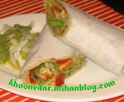 ساندویچ کباب مکزیکی
