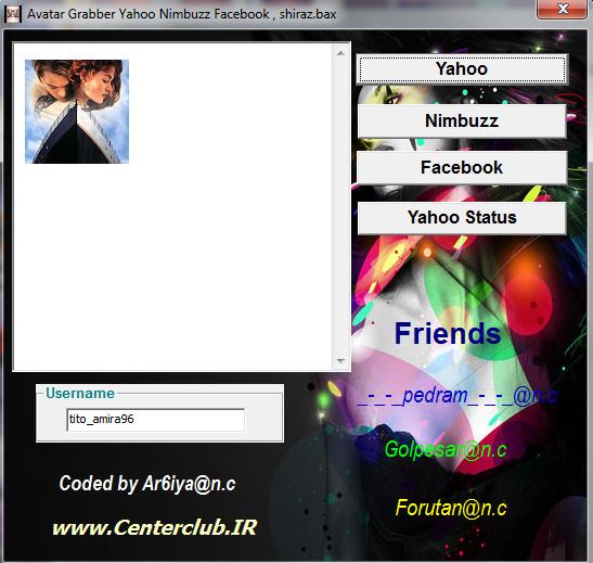 shiraz bax get avatar facebook , yahoo , nimbuzz