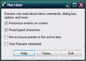 narrator xp