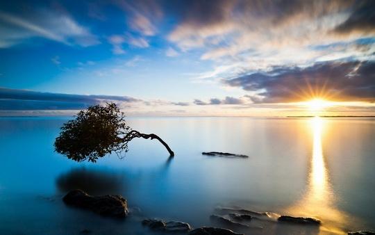 عکس زیبا از غروب آفتاب