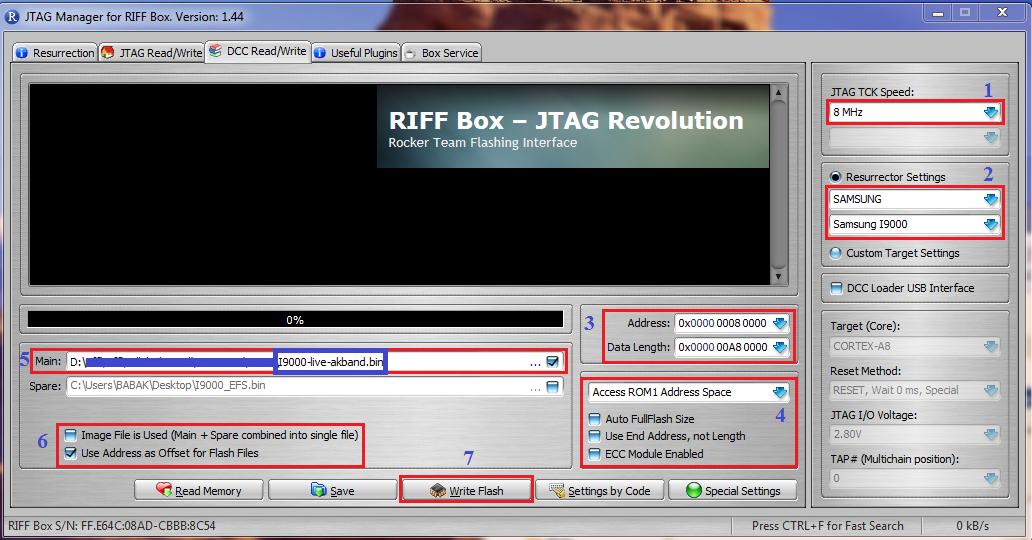 RIFF JTAG - How to repair Samsung baseband and IMEI (2