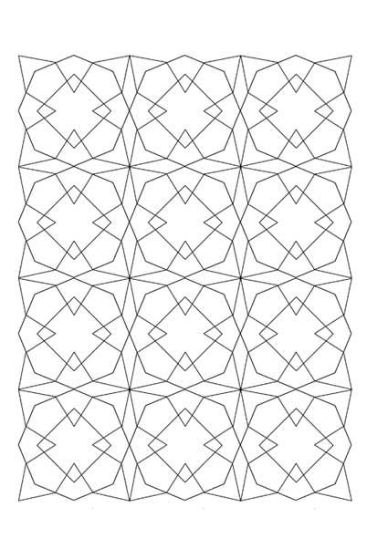 رسم گره هندسه نقوش