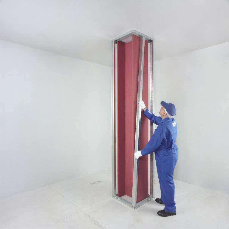 نصب پوشش های ضد حریق کناف