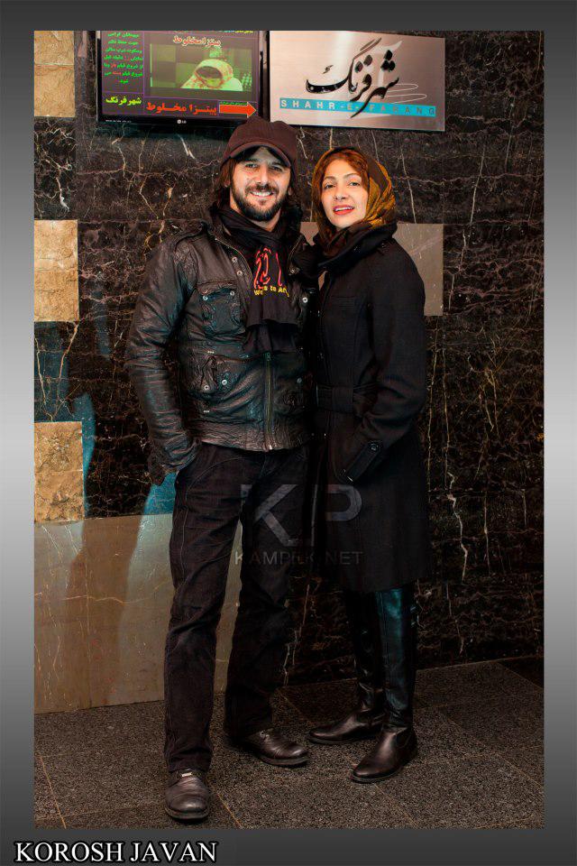 عکس جدید نیلوفر خوش خلق و همسرش امین حیایی