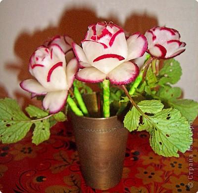 آموزش ساخت گلدان با ترب قرمز