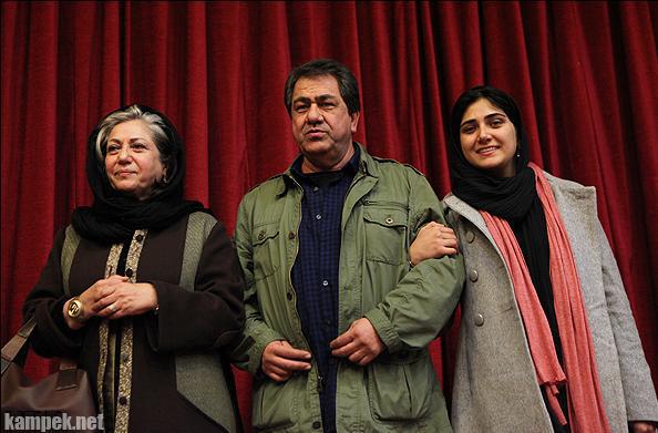 عکس باران کوثری در کنار پدر و مادرش