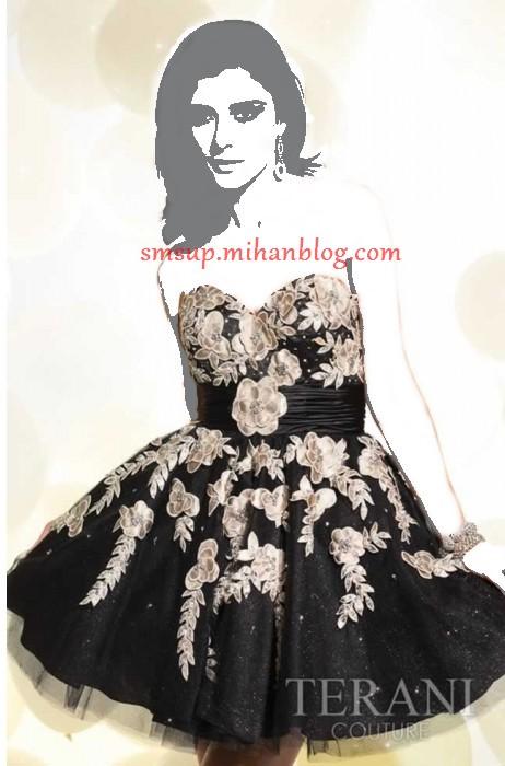 مدل لباس کوتاه گل دار