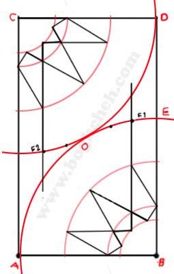 گره دوازده پری - هندسه نقوش