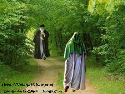Image result for امام زمان و خامنه ای