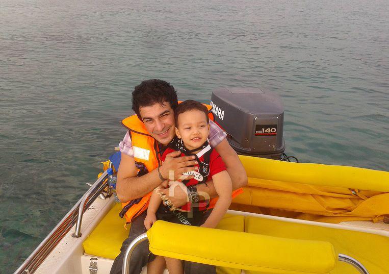 عکس جدید یوسف تیموری و پسرش