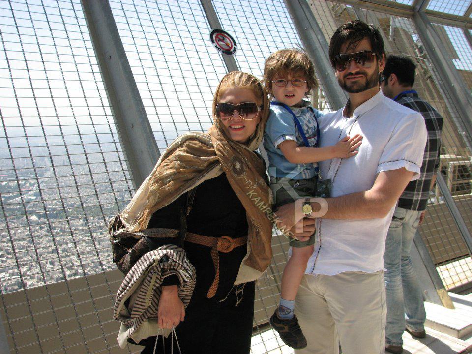 عکس جدید پویا امینی و همسرش