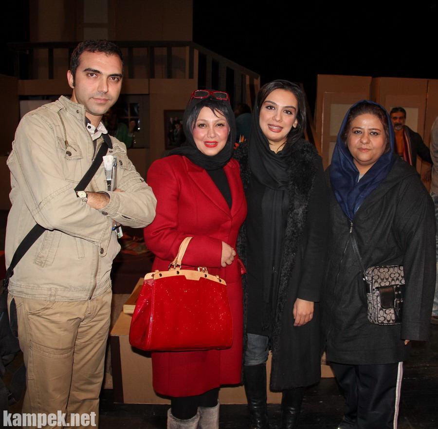 عکس های بهنوش  بختیاری رابعه اسکویی در پشت صحنه تئاتر
