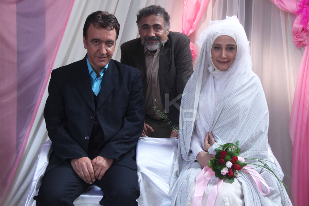عکس سیما مطلبی با لباس عروس