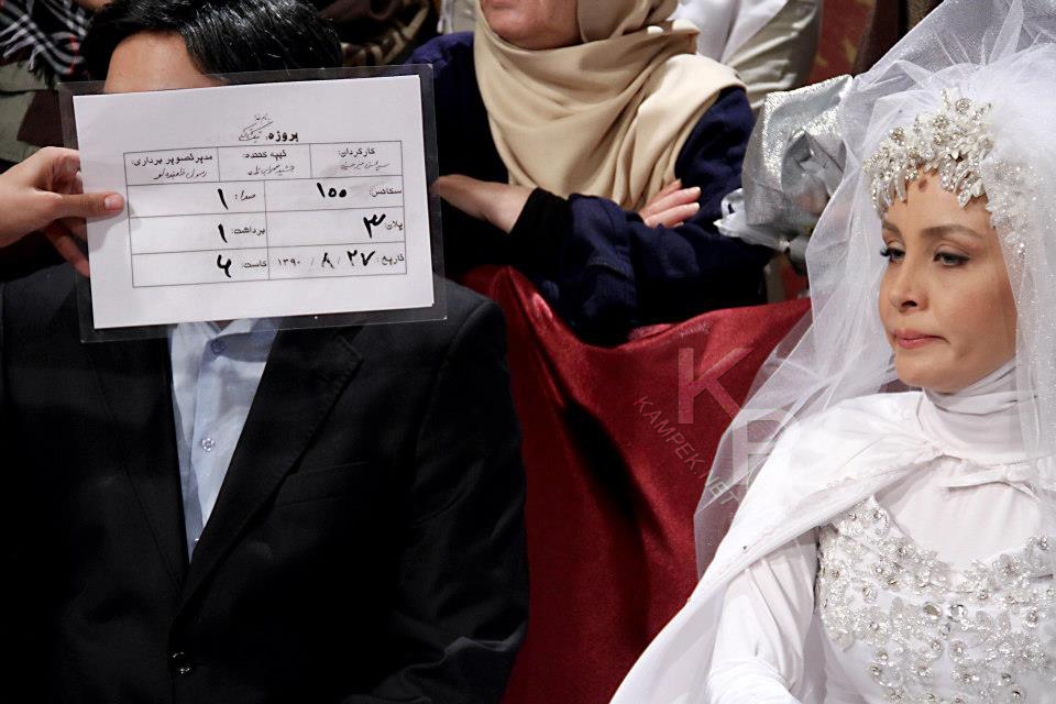 عکس حدیث فولادوند با لباس عروس