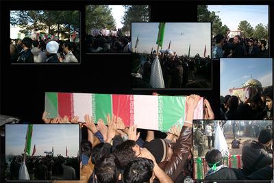 شهید گمنام + مراسم تدفین شهدا در دانشگاه قم