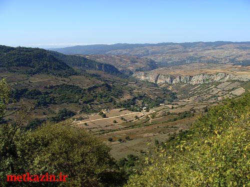 نمایی زیبا از روستای متکازین