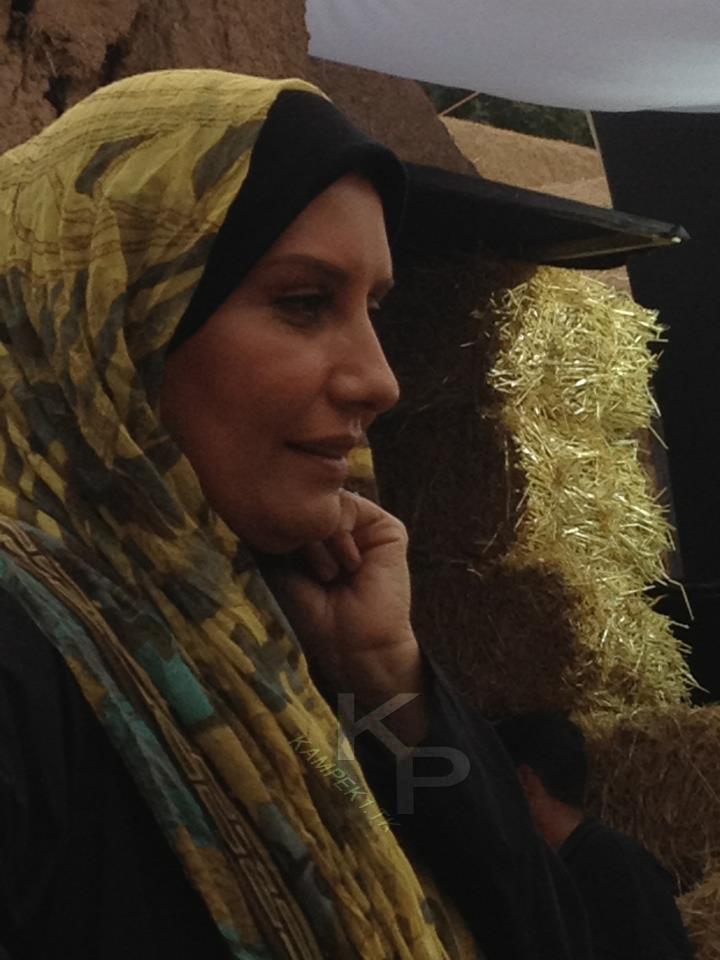 فریبا کوثری در پشت صحنه سریال یلدا
