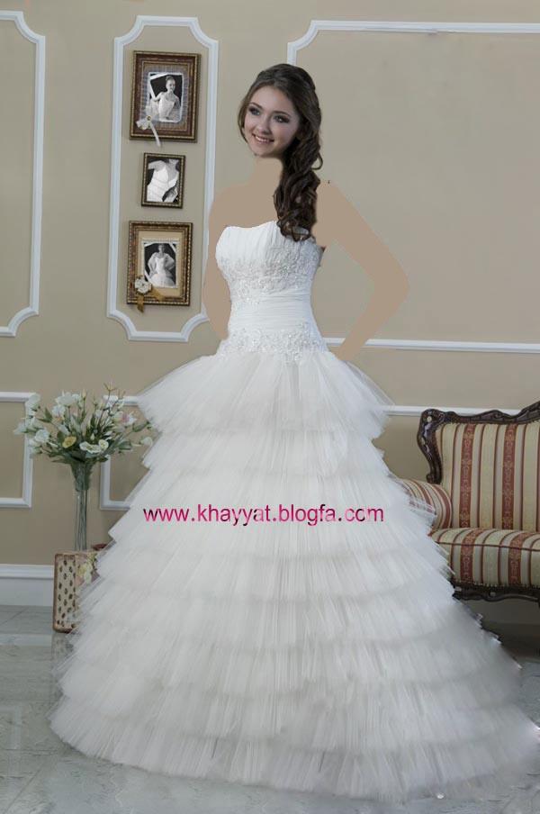 گالری عکس مدل لباس عروس شیک گل بانو