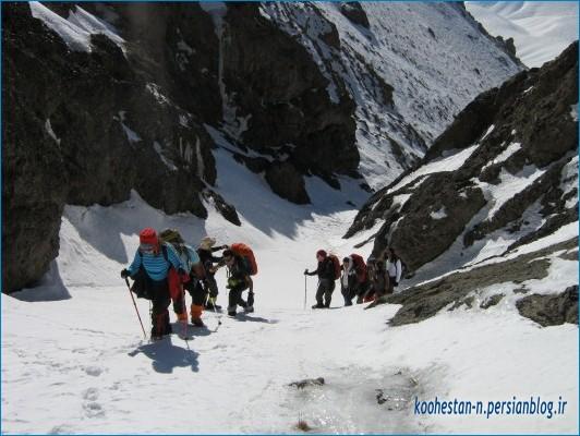 مسیر قله چشمه شاهی از واریش