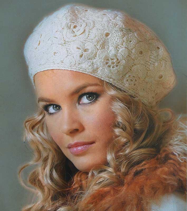 آموزش مدل کلاه زیبای پر از گل وبرگ