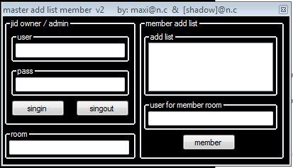 master addlist member v2 Add_member