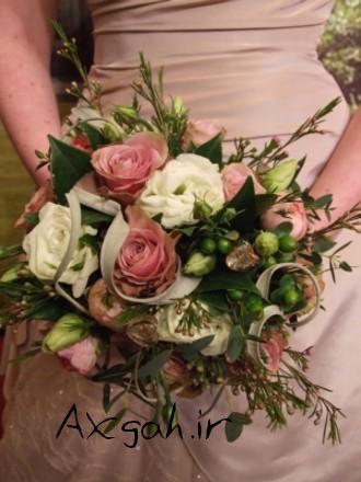 soft pink wedding flowers floralh e جدید ترین دسته گل های عروس 2013