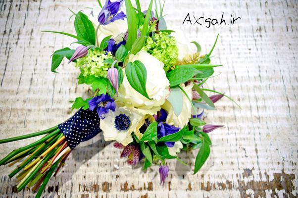 white rose wedding bridal bouquet جدید ترین دسته گل های عروس 2013